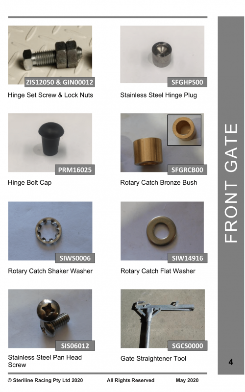 Spare Parts Catalogue - Starting Gate-04