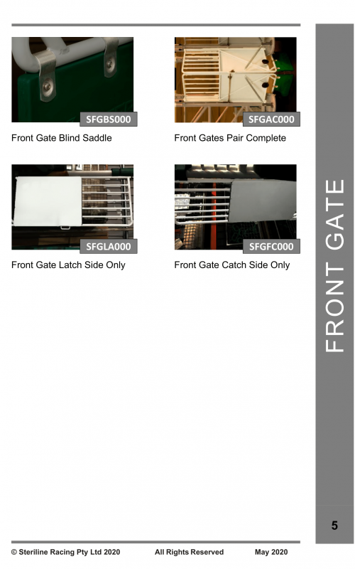 Spare Parts Catalogue - Starting Gate-05