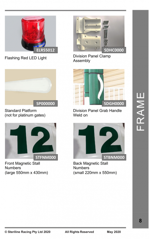 Spare Parts Catalogue - Starting Gate-08
