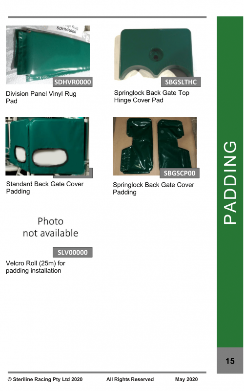 Spare Parts Catalogue - Starting Gate-15