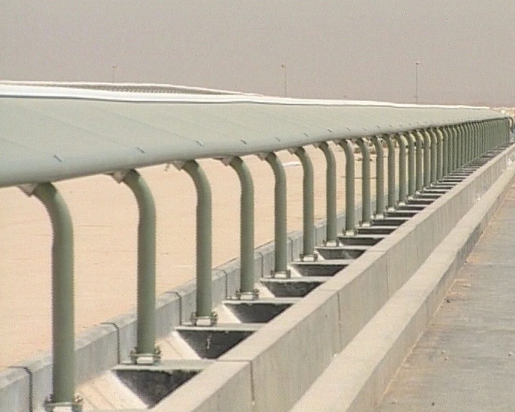 Covered rail was designed and manufactured for the Al Janadriyah track in Saudi Arabia