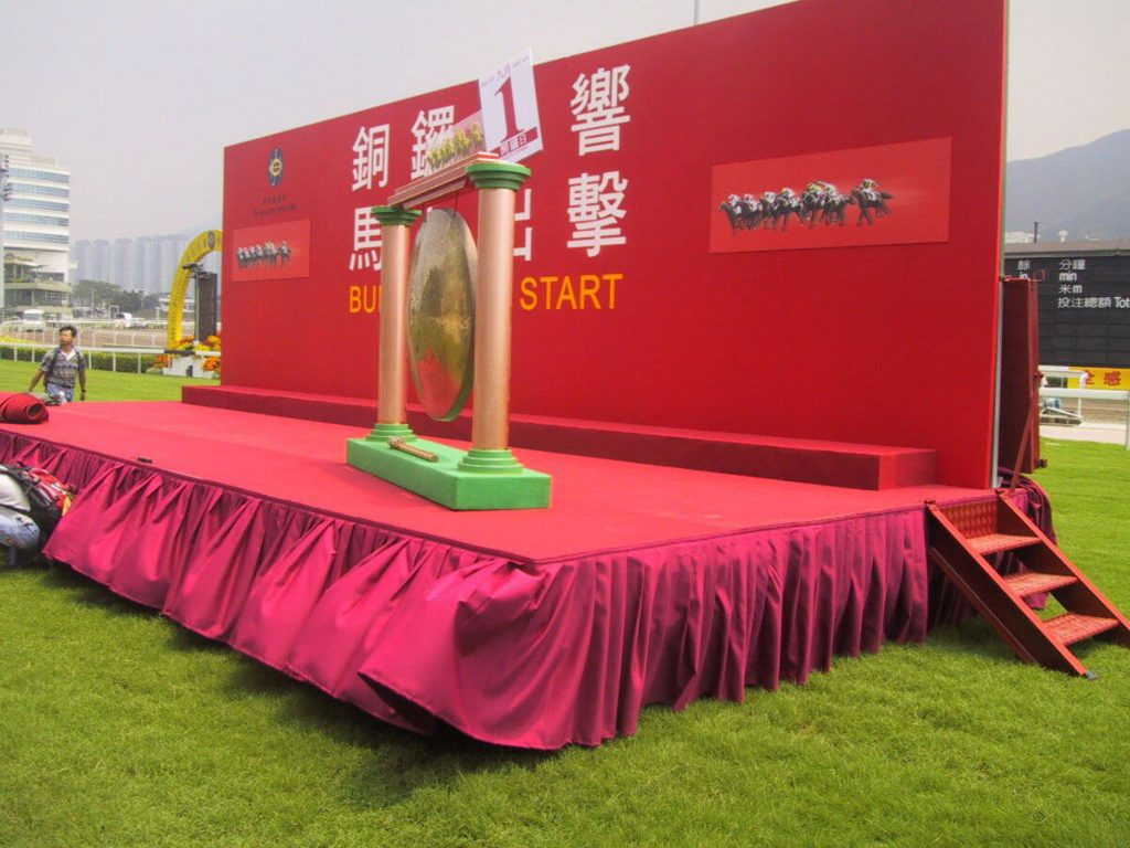 Steriline designed and manufactured the first mobile presentation platform for the Hong Kong Jockey Club