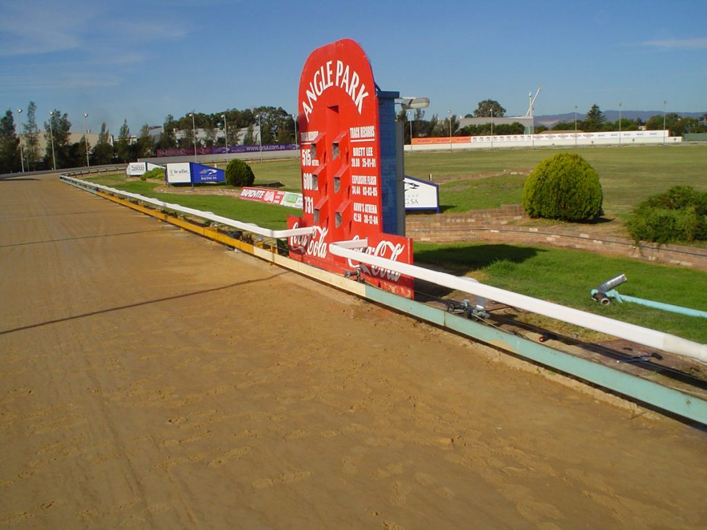 Design, manufacture and installation of greyhound safety rail for Angle Park Greyhounds in South Australia
