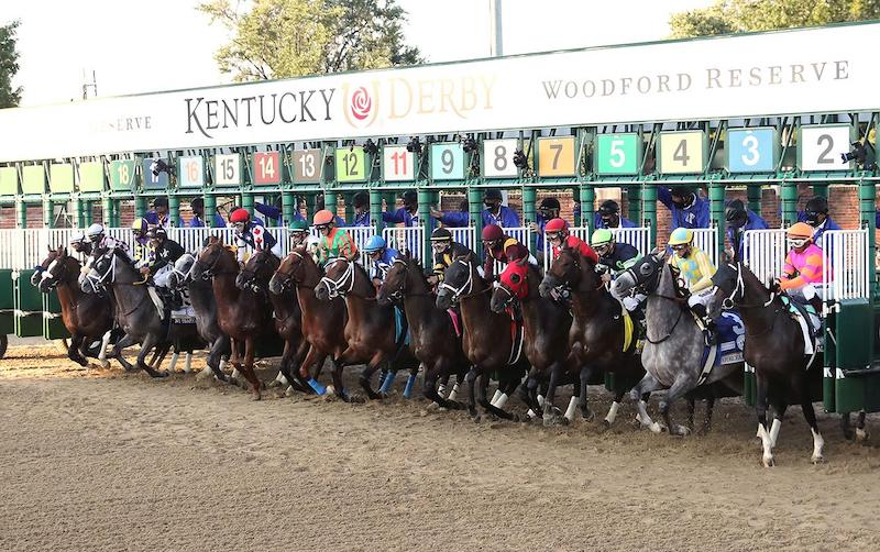 The first set of Steriline starting gates to be used for the Kentucky Derby in USA